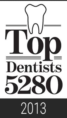 2013 Top Dentist 5280 Magazine