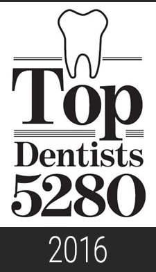 2016 Top Dentist 5280 Magazine